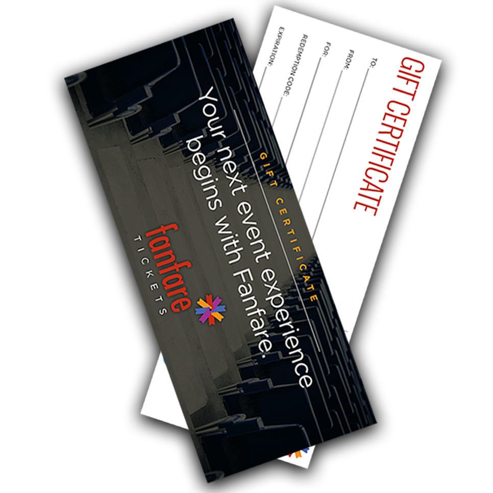 Fanfare Tickets gift card